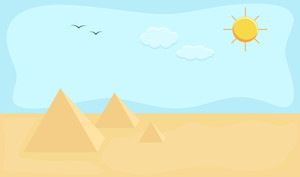 Egypt - Cartoon Background Vector