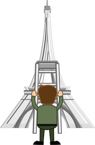Eiffel Tower Vector Cartoon
