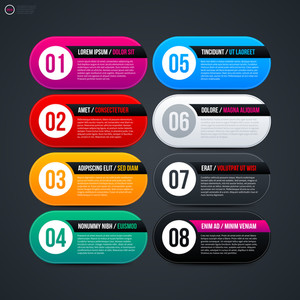 Eight Colorful Options For Web Design. Eps 10