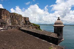 El Morro fort located in Old San Juan Puerto Rico.