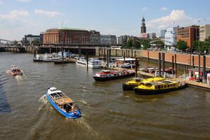 Elbe River In Hamburg