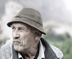 Elderly man portrait