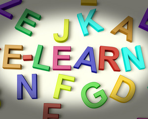 Elearn Written In Plastic Kids Letters