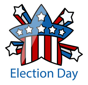 Election Day Celebration Star Vector