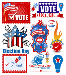 Election Day Festival Vector Graphics Set