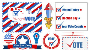 Election Day Graphics Vector Set
