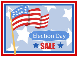 Election Day Sale Background For America