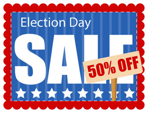 Election Day Sale Coupon Vector