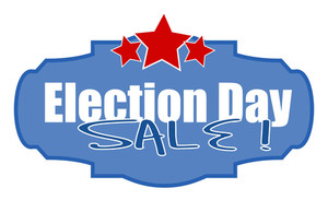 Election Day Sale Vector Illustration