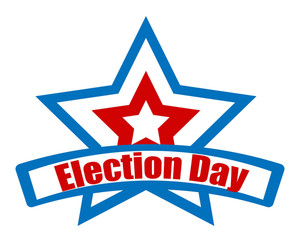 Election Day Star Retro Banner Vector