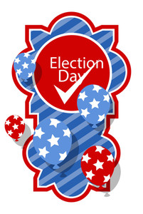 Election Day Vector Banner
