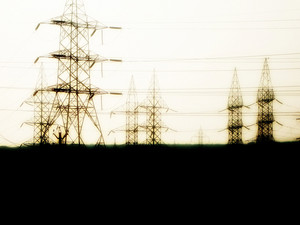 Electric Poles Silhouettes