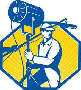 Electrical Lighting Technician Crew Spotlight