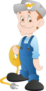 Electrician - Cartoon Character