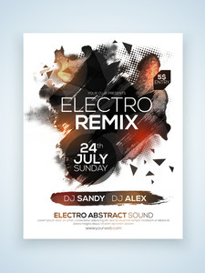 Electro Music Party celebration one page Flyer