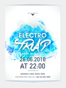 Electro Trap Party Night Template Party Night Template