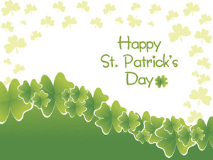 Elegance Background With Shamrock 17 March