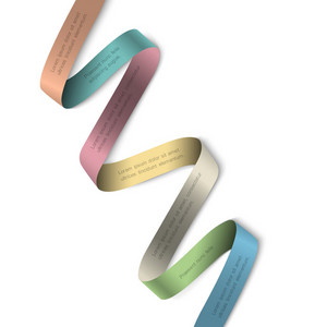 Elegant Colorful Ribbon Banner For Design