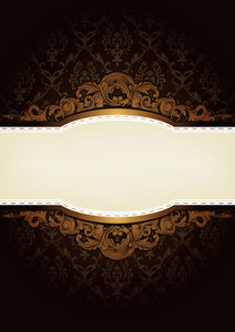 Elegant Engraved Background Vector Illustration