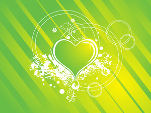 Elegant Romantic Green Vector Banner