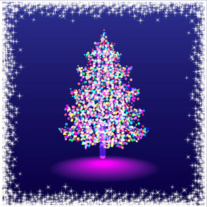 Elegant Silhouette Of A Christmas Tree