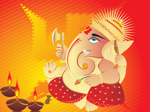Elephant God Ganesha Abstract Design2