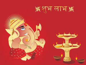 Elephant God Ganesha Abstract Design37
