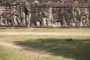 Elephant Sculpture in Angkor Thom. Cambodia