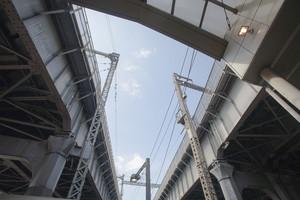 Elevated expressway. bridge, Japan.