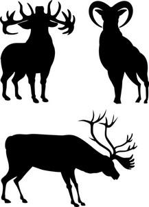 Elk Silhouettes