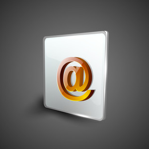Email Address 'at' Symbol Icon Set.