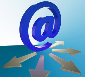 Email Arrows Shows Information Mailed To Addresses