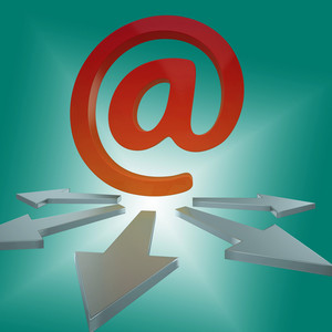 Email Arrows Shows Online Letters To Customers
