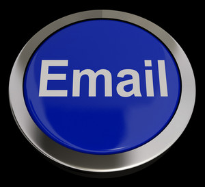 Email Button In Blue For Emailing Or Contacting
