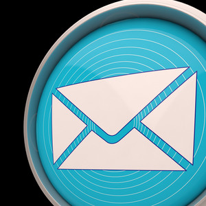 Email Envelope Shows Communication Worldwide Through Web