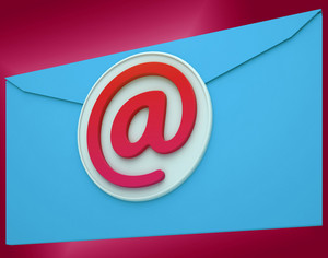 Email Envelope Shows Global Correspondence Post Online