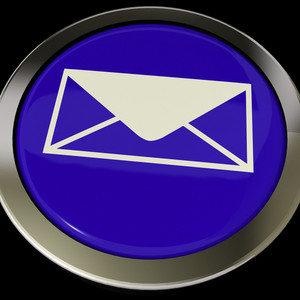 Email Icon Button For Sending Message Over Internet