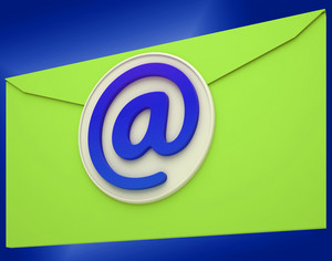 Email Icon Shows Emailing Correspondence Or Contacting