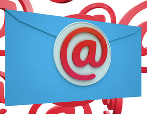 Email Icon Shows Online Mailing Communication Support