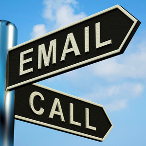Email Or Call Directions On A Signpost