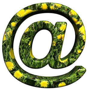 Email Sign From Floral Alphabet Set