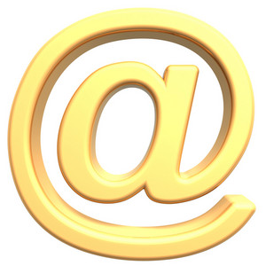 Email Sign From Gold Alphabet Set