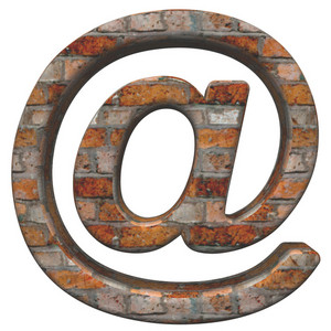 Email Sign From Old Brick Alphabet Set,