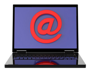 Email Sign On Laptop Screen.