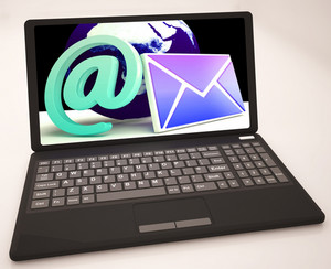 Email Sign On Laptop Shows Online Mailing