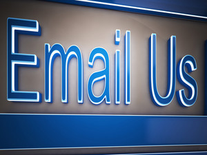 Email Us Button Showing Customer Service