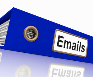 Emails File Showing Contacts And Correspondence