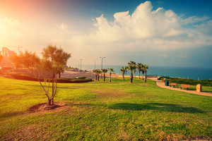 Embankment of Netanya city in the morning