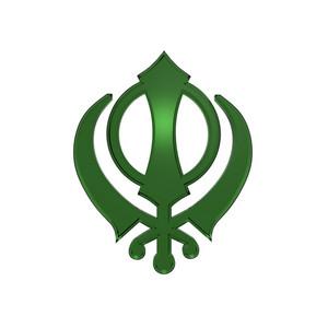 Emerald Sikhism Symbol.