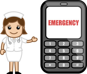 Emergency Call - Medical Cartoon Vector Character